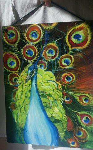 Peacock Watercolor Aluminum Print for Sale in Arlington, VA