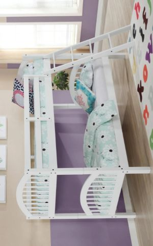 ♻️New♻️Honey White Twin/Twin Bunk Bed | 4472W byGlobal for Sale in Jessup, MD
