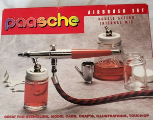 Paasche Airbrush Set Double Action Internal Mix. NEVER USED for Sale for sale  Mount Vernon, NY