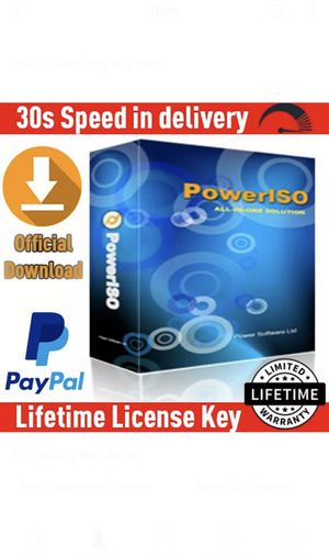 Power Iso 7.5 ✔️ Official Lifetime License KEY With Your Name🔑 LATEST VERSION ⚡ for Sale in Beverly Hills, CA