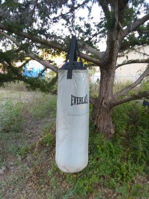 Everlast punching bag w/14oz gloves for Sale in Niederwald, TX