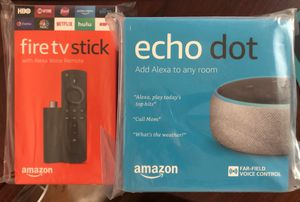 amazon firetv stock and echo dot 3rd gen for Sale in Queens, NY