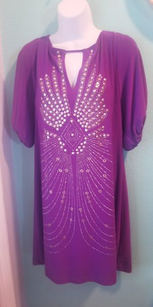 Beautiful Purple BeBe Party Dress..Size 16 Womens..Brand New! for Sale in Modesto, CA