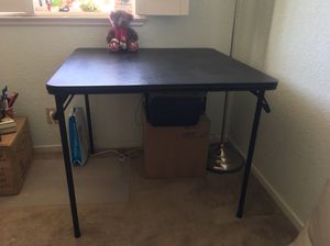 Square desk / small dining table - with foldable legs for Sale in Mountain View, CA