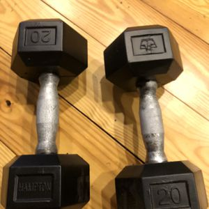 20lb Rubber Hex Dumbbells for Sale in New Haven, CT