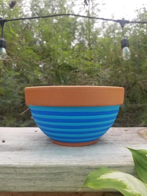 Handpainted Terracotta Pot for Sale in Castroville, TX