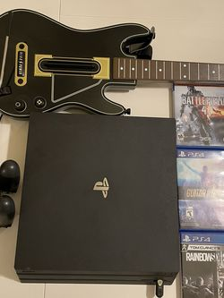 PS4 Pro + 2 Controllers/Charger + GH guitar for Sale in Duvall,  WA