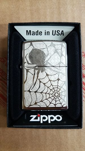 Zippo hidden spider high polished chrome 28052 for Sale in Los Angeles, CA