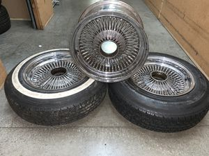 15in standard crome rims (set of 3) for Sale in Renton, WA