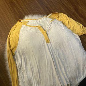 Yellow + White Baseball Tee- Style Shirt for Sale in Seattle, WA