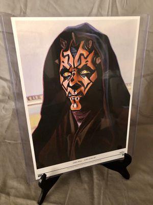 "Star War Disney Topps Living Set Fine Art Print 10""x14"" Darth Maul for Sale in Huntington Beach, CA"