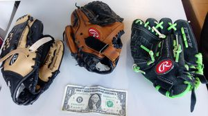Kids Rawlings baseball gloves for Sale in Glendale, AZ