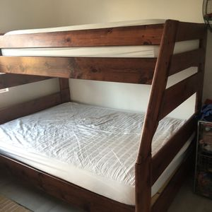 Solid wood quality bunk beds- Twin Over Full for Sale in San Diego, CA