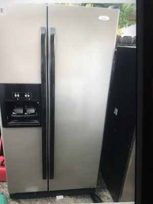 Refrigerator stainless steel whirlpool for Sale in West Palm Beach, FL