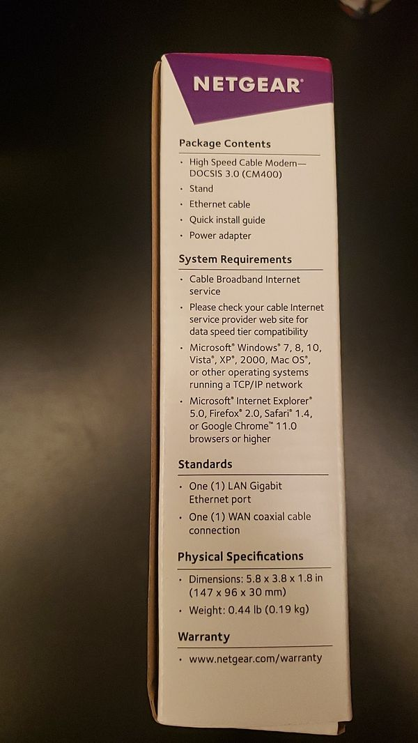 Netgear High Speed Cable Modem...Never Used