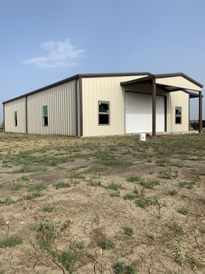 40x60x12 metal building with 8x60 shed for Sale in Seagoville, TX