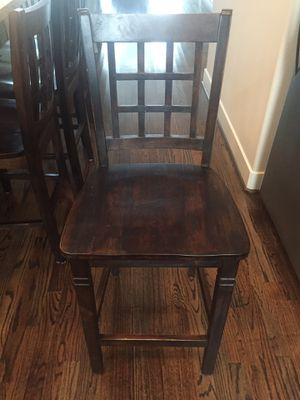 Wooden Bar Stools-Set of 4 for Sale in Houston, TX