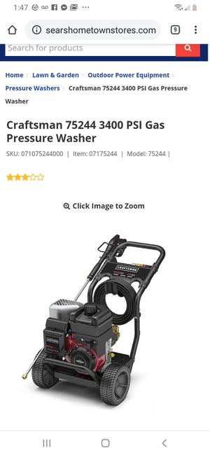 3400psi pressure washer for Sale in Bakersfield, CA