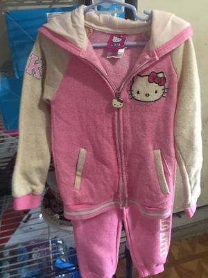 Hello kitty 2 Piece Zip-up Hoodie and Pant Active Set for Sale in San Antonio, TX