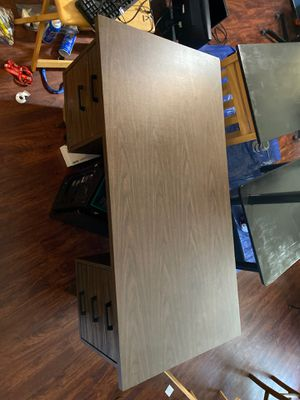 Wood desk. Great quality but heavy for Sale in Riverview, FL