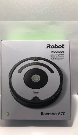 iRobot Roomba 670 Robot Vacuum-Wi-Fi Connectivity, Works with Alexa, Good for Pet Hair, Carpets, Hard Floors, Self-Charging for Sale in Pompano Beach, FL
