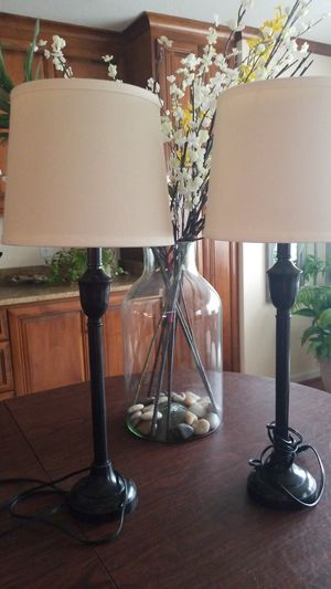2 cute tall lamps for Sale in Virginia Beach, VA