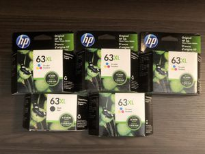 New HP 63XL Tri-color/Black Ink Cartridge, High Yeild (F6U63AN) for Sale in Glenmont, NY