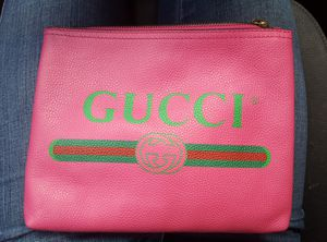 Pink leather Gucci pouch clutch bag for Sale in Denver, CO