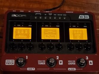 Zoom B3 Bass Guitar Effects Pedal and Amp Simulator for Sale in Palos Verdes Estates,  CA