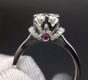 Moissanite diamond engagement bridal wedding ring ✨ side ruby ✨ promise Ring ✨ GUARANTEED TO PASS DIAMOND TEST for Sale in Las Vegas, NV