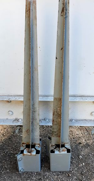 2 Metal posts for wood fence for Sale in Colorado Springs, CO