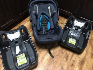 Infant car seat + 2 bases for Sale in Bryan, TX
