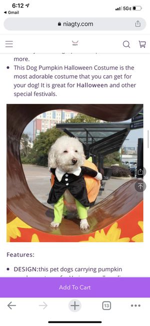 Pet Dog Halloween Costume 3XL for Sale in Winchester, CA