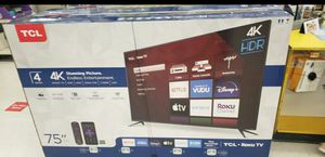 "TCL 75"" Smart 4K UHD HDR ROKU TV for Sale in Rancho Cucamonga, CA"