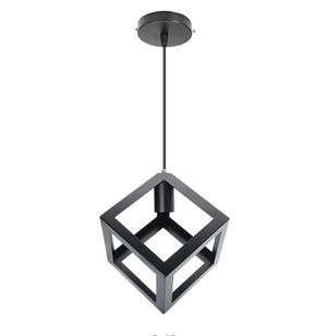 Square Shaped Iron Black Ceiling Light Frame Only (No Bulb Included) for Sale in ROWLAND HGHTS, CA