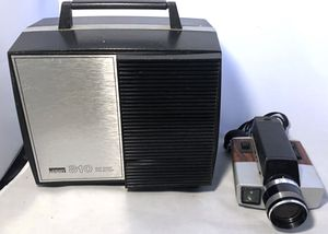 1970s KODAK XL360 SUPER 8 FILM CAMERA & Vintage Mid Century Montgomery Ward 810 Duo Eight Projector! for Sale in Fort Washington, MD