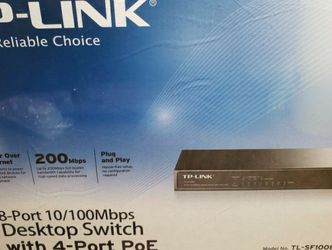 TP-LINK 8 PORT Desktop Switch with 4-Port PoE for Sale in Artesia,  CA