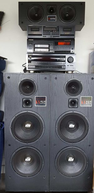 PIONEER HOME STEREO SYSTEM W/DCM KX SPEAKERS for Sale in Port St. Lucie, FL