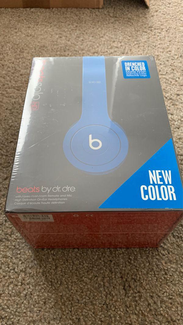 Beats solo HD blue - beats by dr. Dre