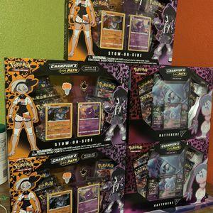 Brand New Pokemon Champions Path Hatterene & Pin Boxes! for Sale in Phoenix, AZ