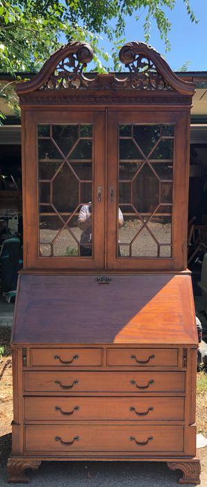 ANTIQUE SECRETARY DESK-CHIPPENDALE REPRODUCTION for Sale in Denver, CO