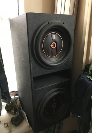 Quantum audio two 12 5000 watts with pro box for Sale in Houston, TX