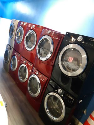 LG FRONT LOAD WASHER AND DRYER SET WORKING PERFECTLY 4 MONTHS WARRANTY DELIVERY AVAILABLE for Sale in Baltimore, MD