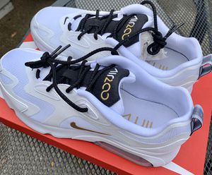 Brand New W/ Box Mens' Nike Air Max 200 Running Shoes White Gold Black Size 8.5 for Sale in OH, US