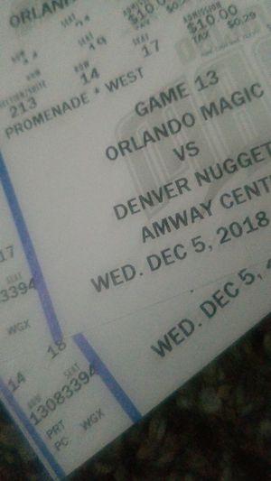 Magic vs Nuggets for Sale in Orlando, FL