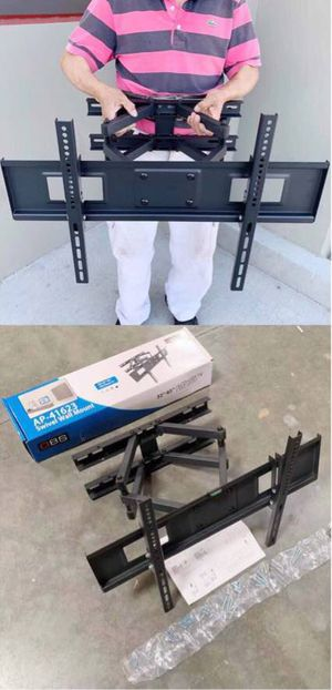 New in box 32 to 65 inches swivel full motion tv television wall mount bracket 120 lbs capacity with hardwares included soporte de tv for Sale in West Covina, CA
