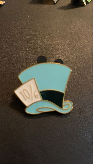Disney Official Trading Pin Mad Hatter Alice In Wonderland Hat Uncommon for Sale in Davenport, FL