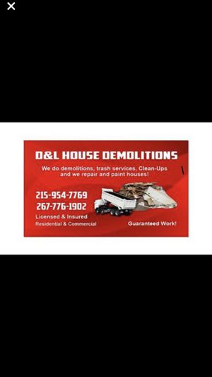 Demolation ,clean up ,reparing houses for Sale in Philadelphia, PA