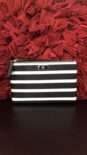 Kate Spade Dawn Sailing Stripe Medium Double Zip Wristlet Black/Multi ~ NWT. Condition is New with tags. for Sale in Carlsbad, CA