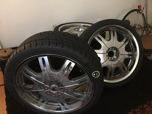 "22"" Chrome Wheels for Sale in Washington, DC"